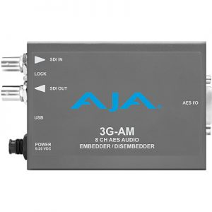 3G-AM 3G-SDI 8-Channel AES Embedder/Disembedder