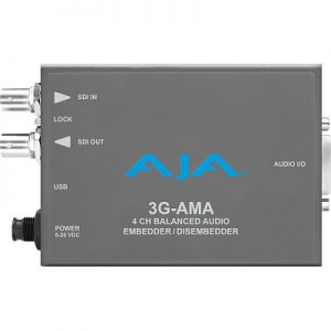3G-AMA 3G-SDI Analog Audio Embed/Disembed