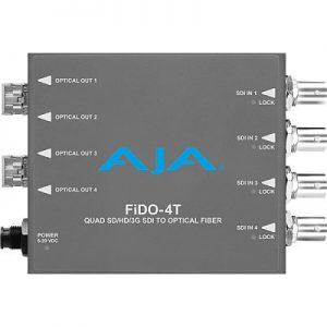 FiDO-4T 4-Channel 3G-SDI to Single-Mode LC Fiber Transmitter