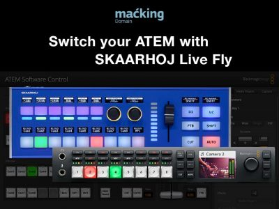 Switching Blackmagic Design ATEM with SKAARHOJ Live Fly