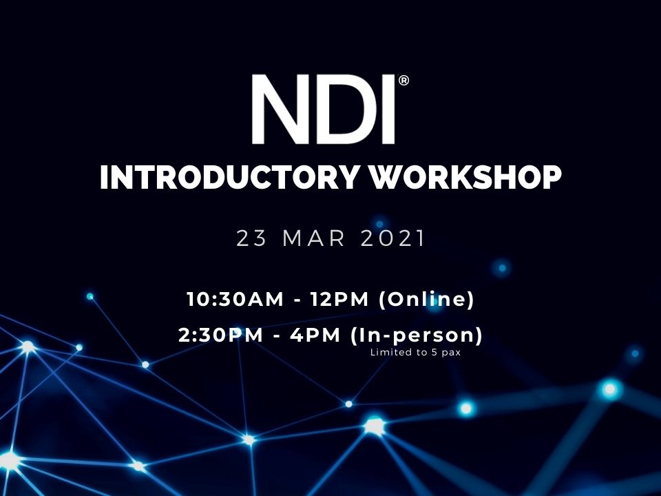 NDI Introductory Workshop, 23rd March 2021